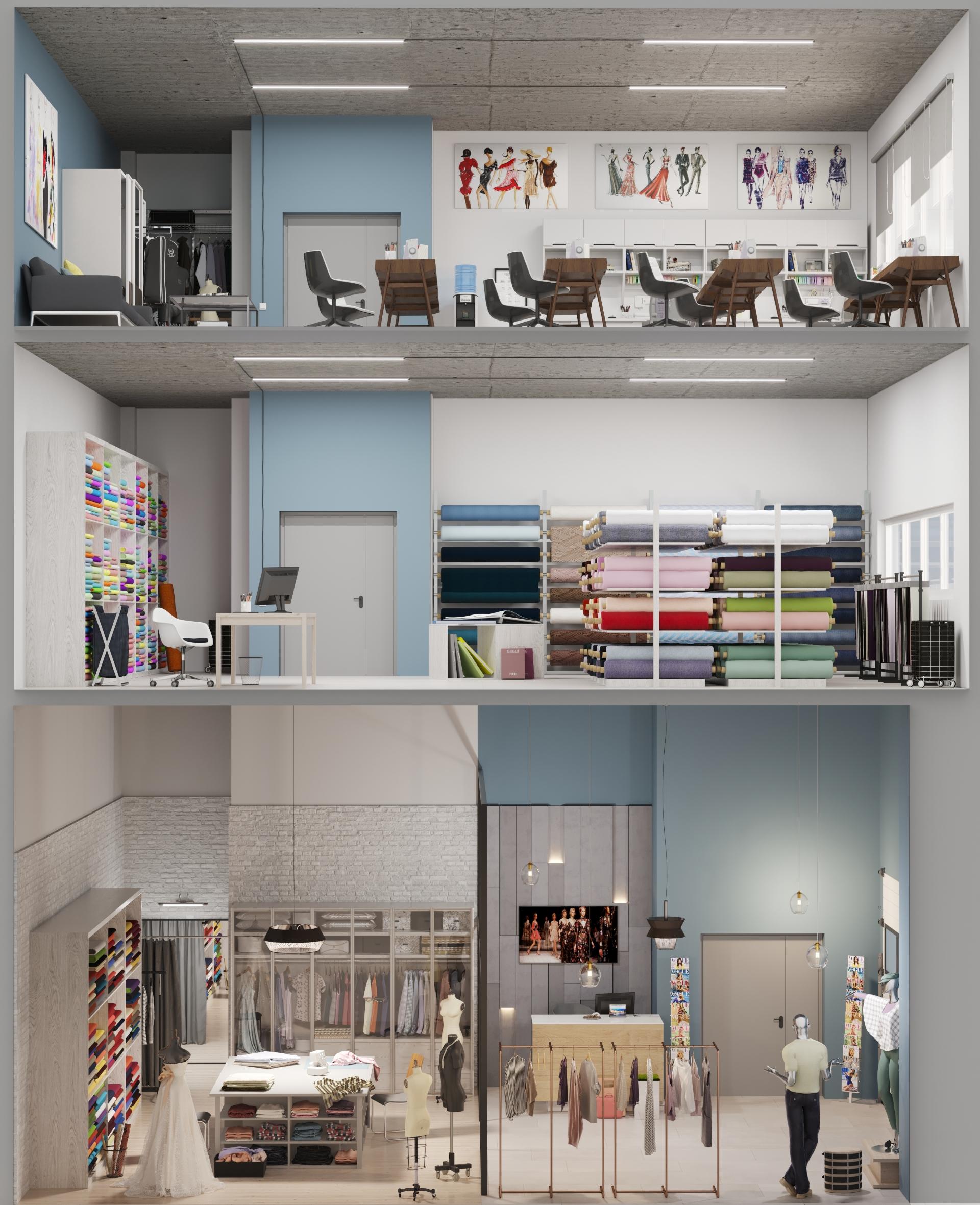 Швейная мастерская. ВизуализацияKR Properties