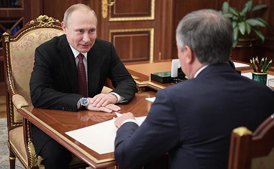 Владимир Путин иВячеслав Володин