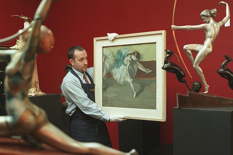 Картина Дега «Отдыхающая танцовщица»