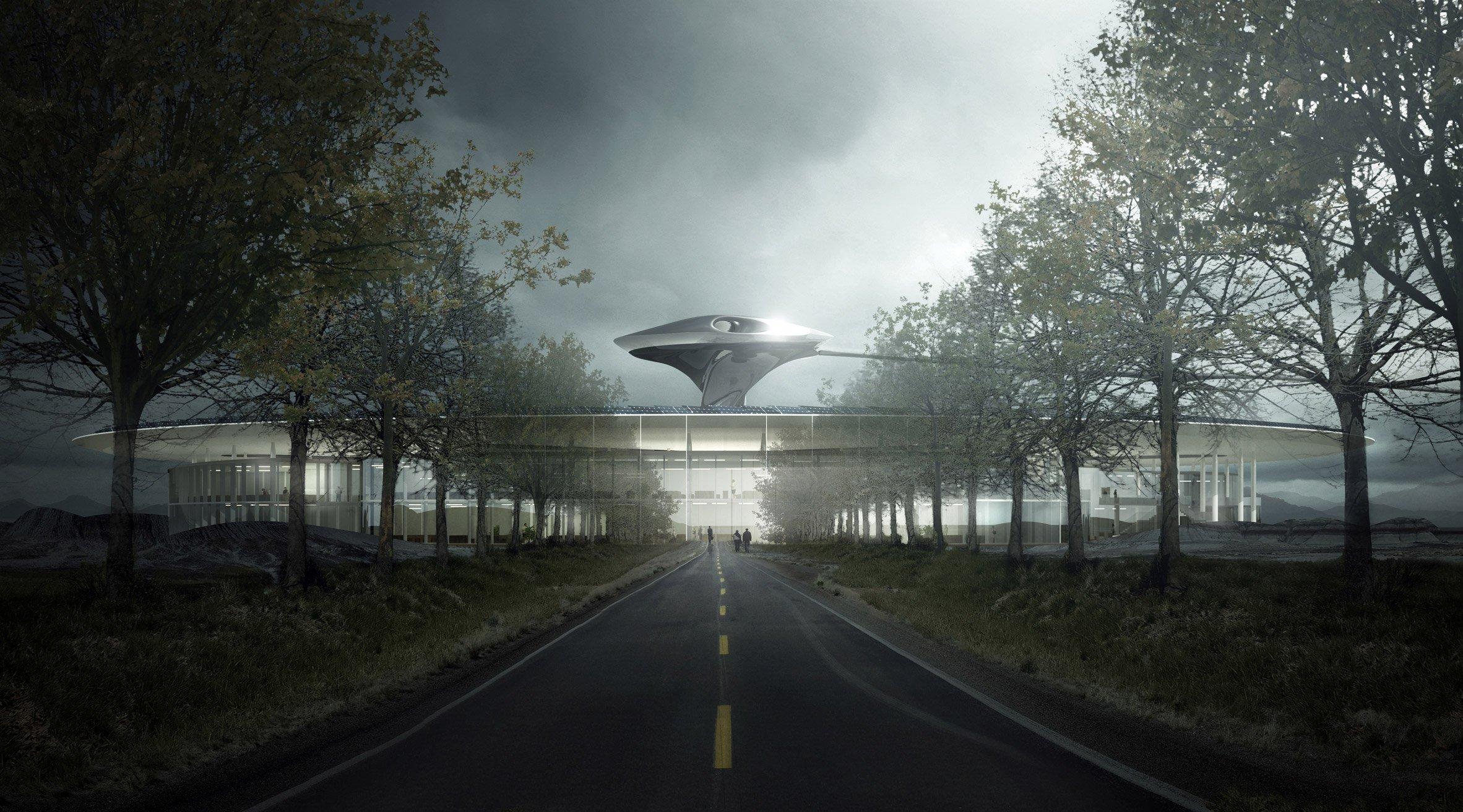 Кампус будет построен в научно-фантастическом стиле, намекающем на инновационность Faraday Future и «бросающем вызов современной автомобильной отрасли»