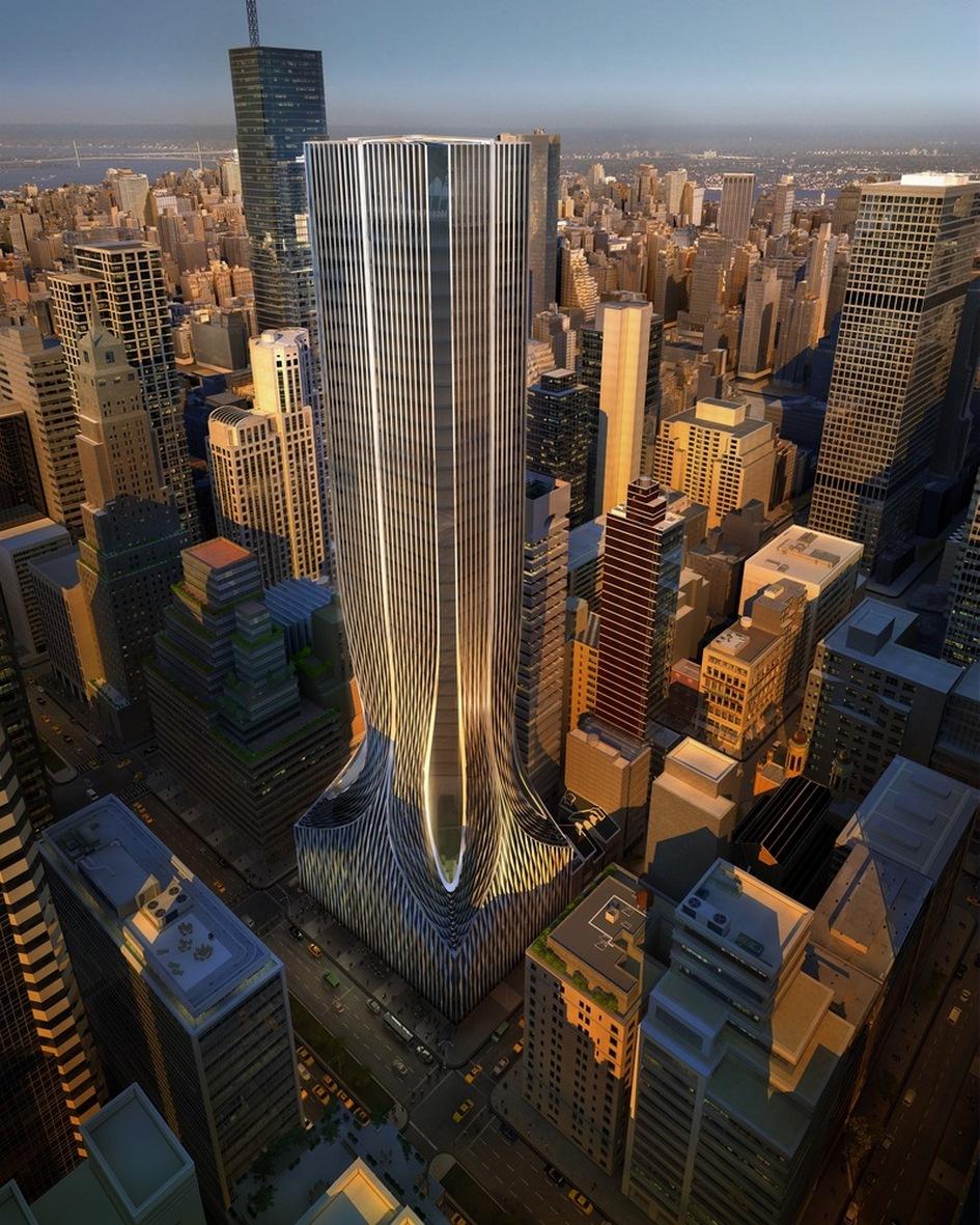 В октябре 2012 года бюро Захи Хадид участвовало в конкурсе на создание небоскреба на Парк-авеню, 425, в Нью-Йорке. Студия представила проект 40-этажного здания высотой чуть больше 213м. «Цель дизайна здания на Парк-авеню, 425, — создать строение вневременной элегантности, но с сильным характером, которое моглобы отобразить сложную и утонченную эпоху, в которую оно было возведено, а также отразить уникальность места постройки», — пояснила свой замысел Заха Хадид. Проект вошел в список финалистов, но победителем стало бюро Foster+Partners