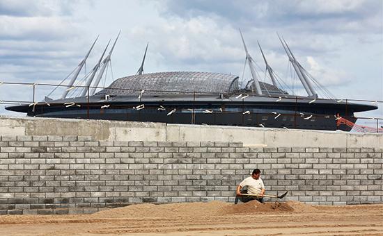 Cтроительство стадиона «ЗенитАрена»