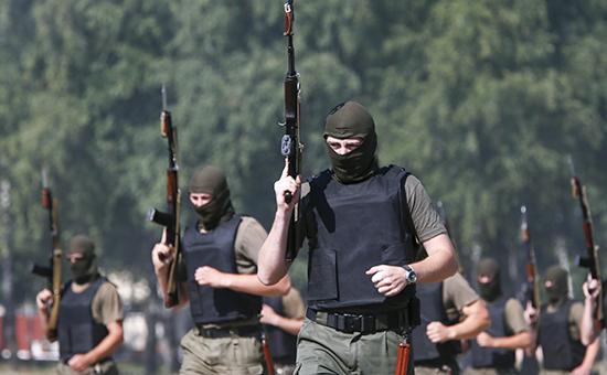 Национальная гвардия Украины на учениях под Киевом  Архивное фото