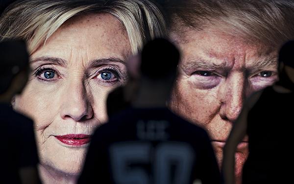 Кандидаты впрезиденты США Дональд Трамп иХиллари Клинтон