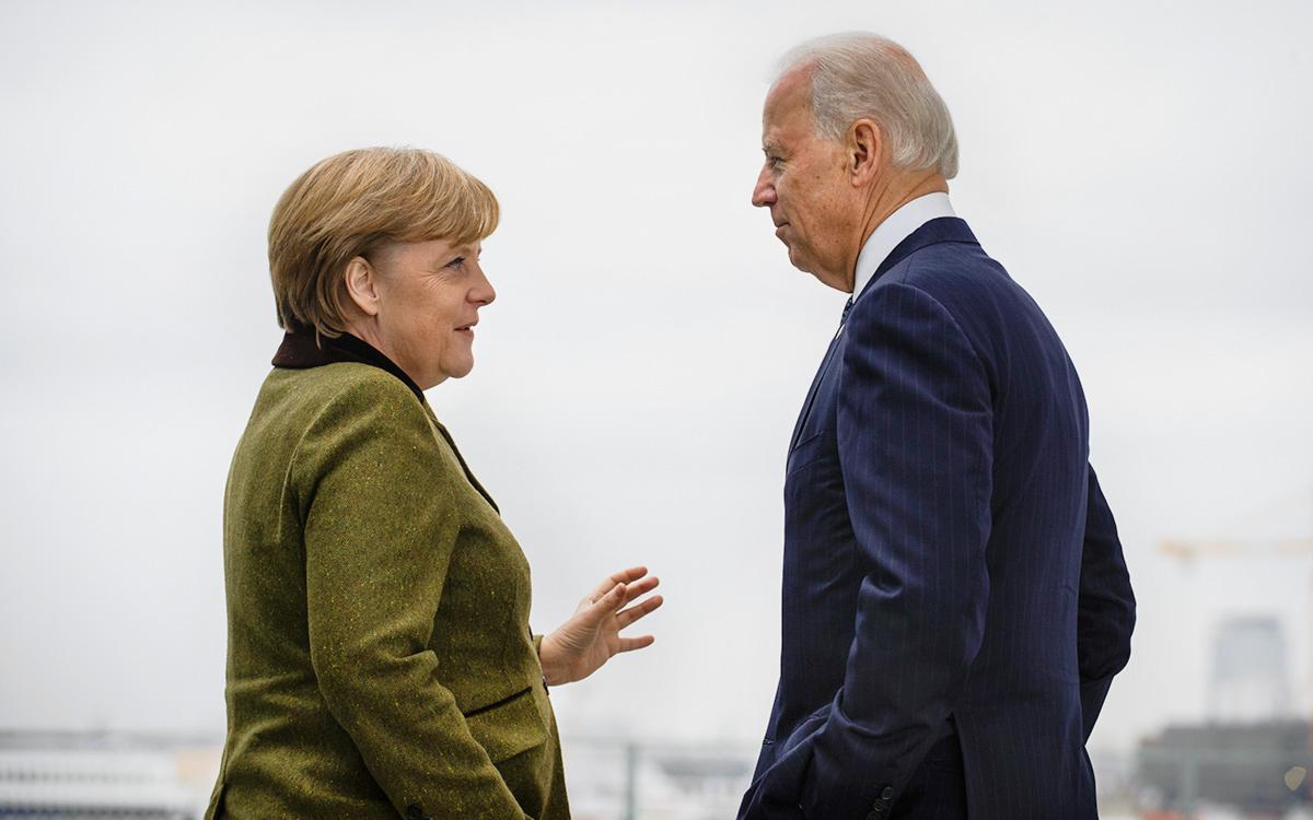 АнгелаМеркель иДжо Байден
