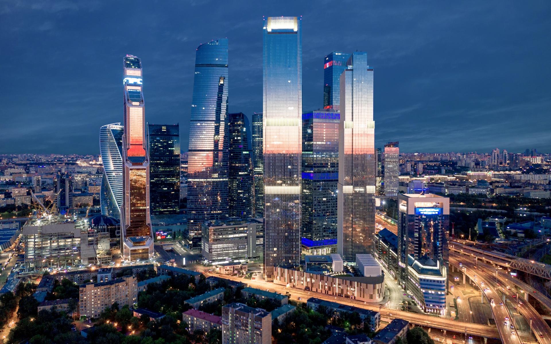 Вид на башни Neva Towers и «Москва-Сити»