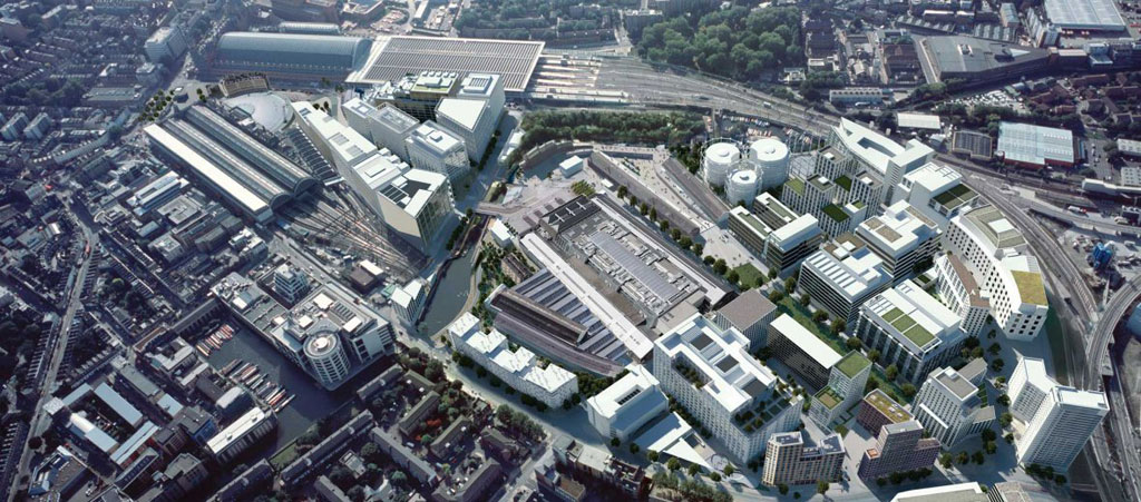 План застройки промзоны вокруг вокзала Кings Сross в центре Лондона