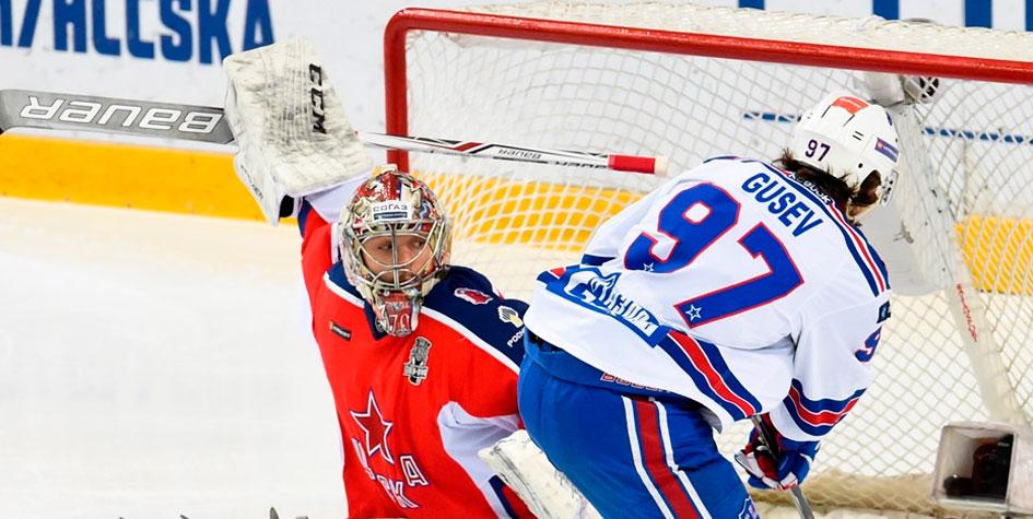 СКА разгромил ЦСКА в третьем матче полуфинала Кубка Гагарина