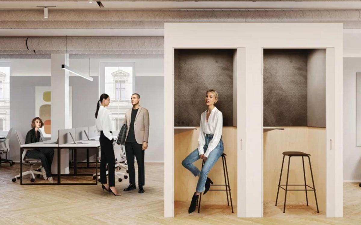 Проект дизайна интерьера во flex-офисе Space 1 на Тверском бульваре