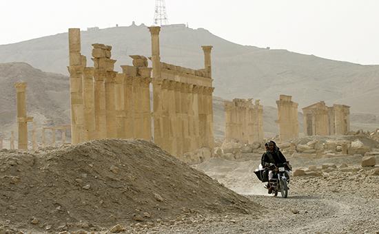 Историческая часть города Пальмира, сентябрь 2015 года