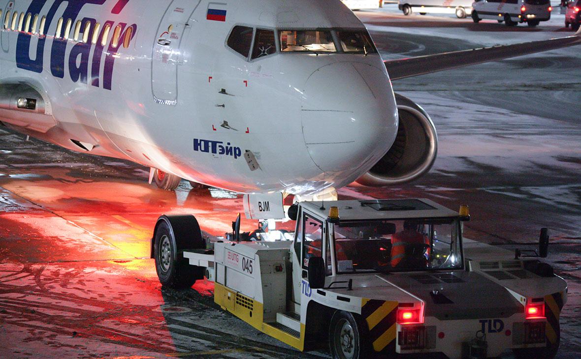 Boeing 737 авиакомпании Utair в аэропорту Внуково. Декабрь 2017 года