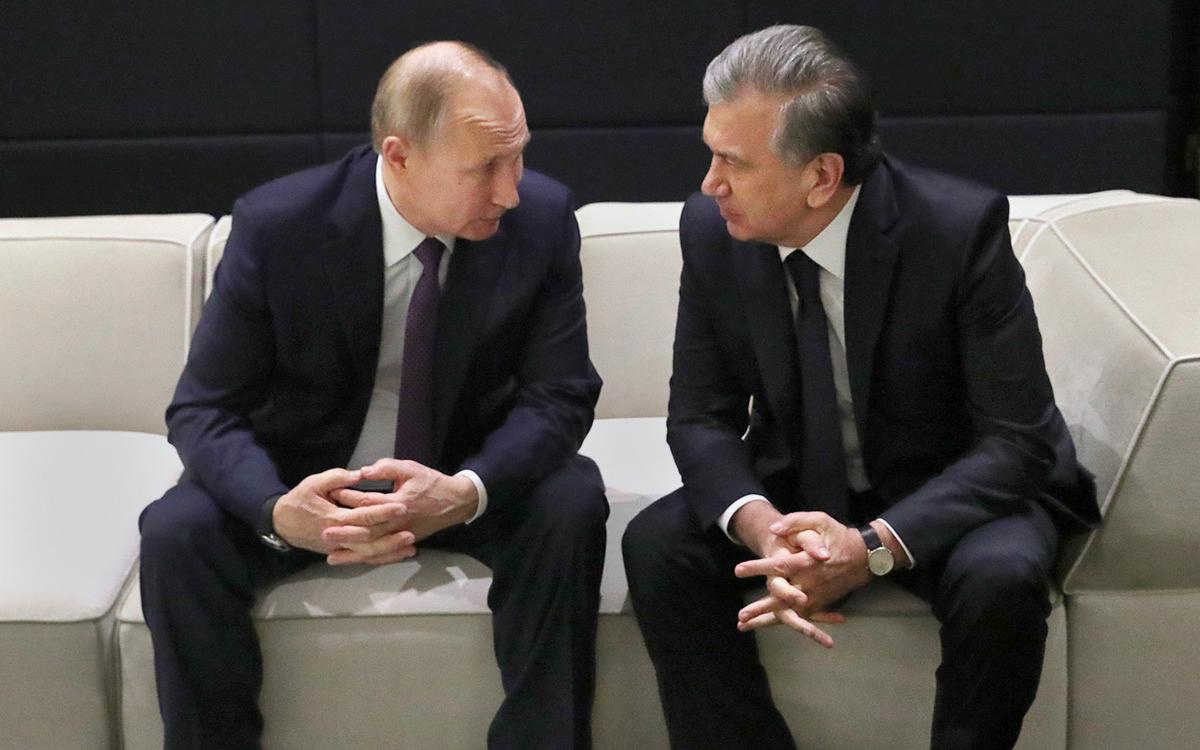 Владимир Путин и Шавкат Мирзиеев