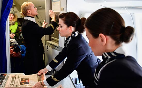 Стюардессы авиакомпании «Аэрофлот»