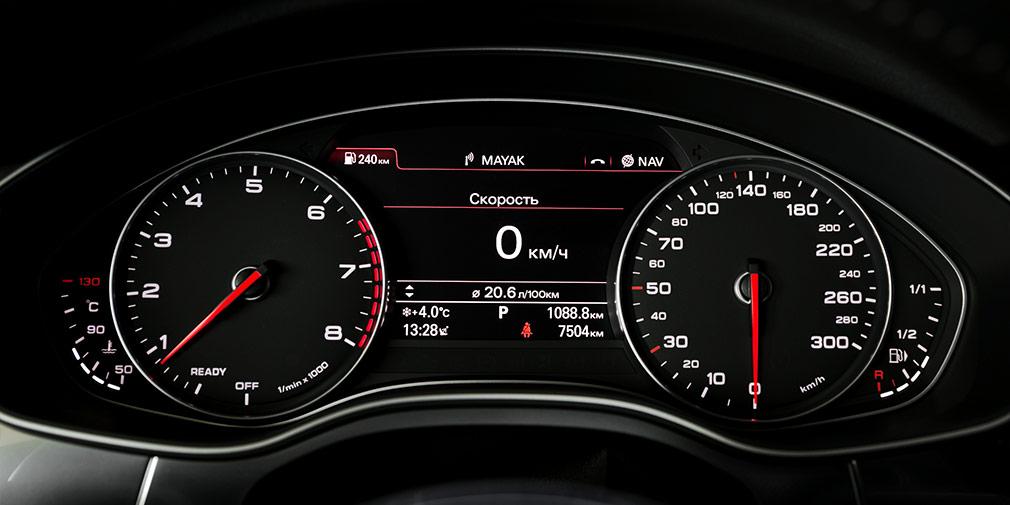 Приборная панель Audi бывает двух видов: полностью цифровой и комбинированной.