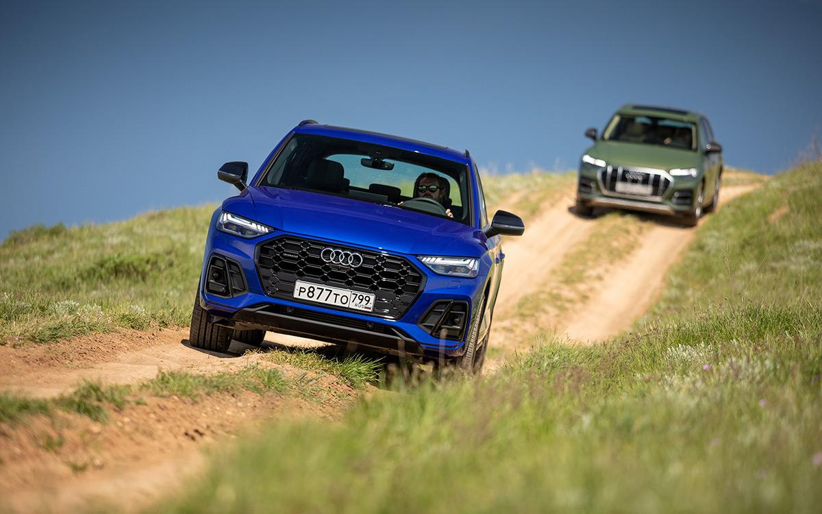 <p>Для обновленного Audi Q5 предлагают два новых цвета кузова:&nbsp;зеленый (district<br /> green) и синий (ultra blue). И это&nbsp;помимо 10 основных цветов. Опционально есть черный стайлинг-пакет внешней отделки.</p>