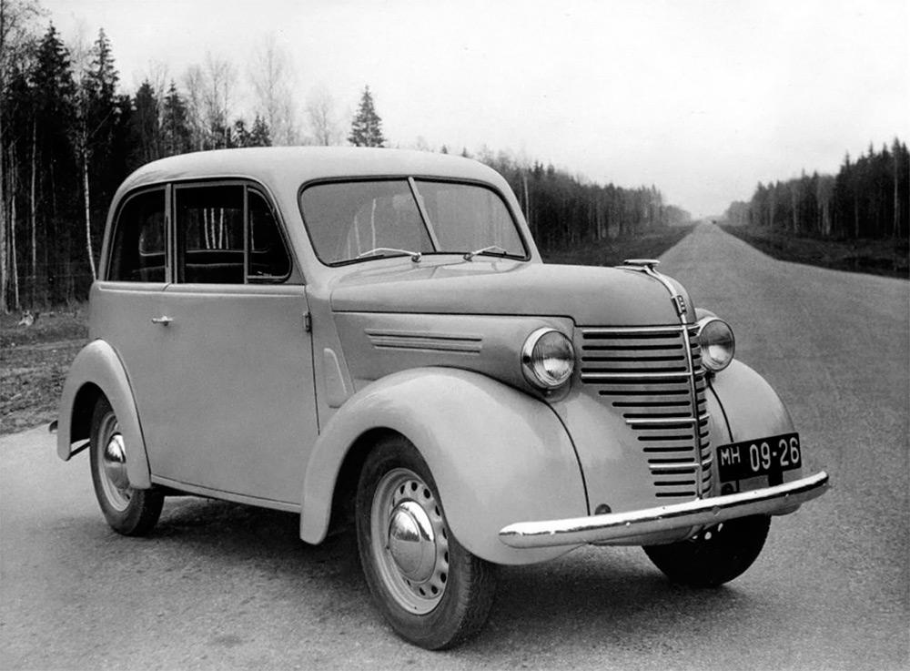 <p>Автомобиль КИМ-10-50, выпускавшийся в Советском Союзе в начале 1940-х годов.</p>