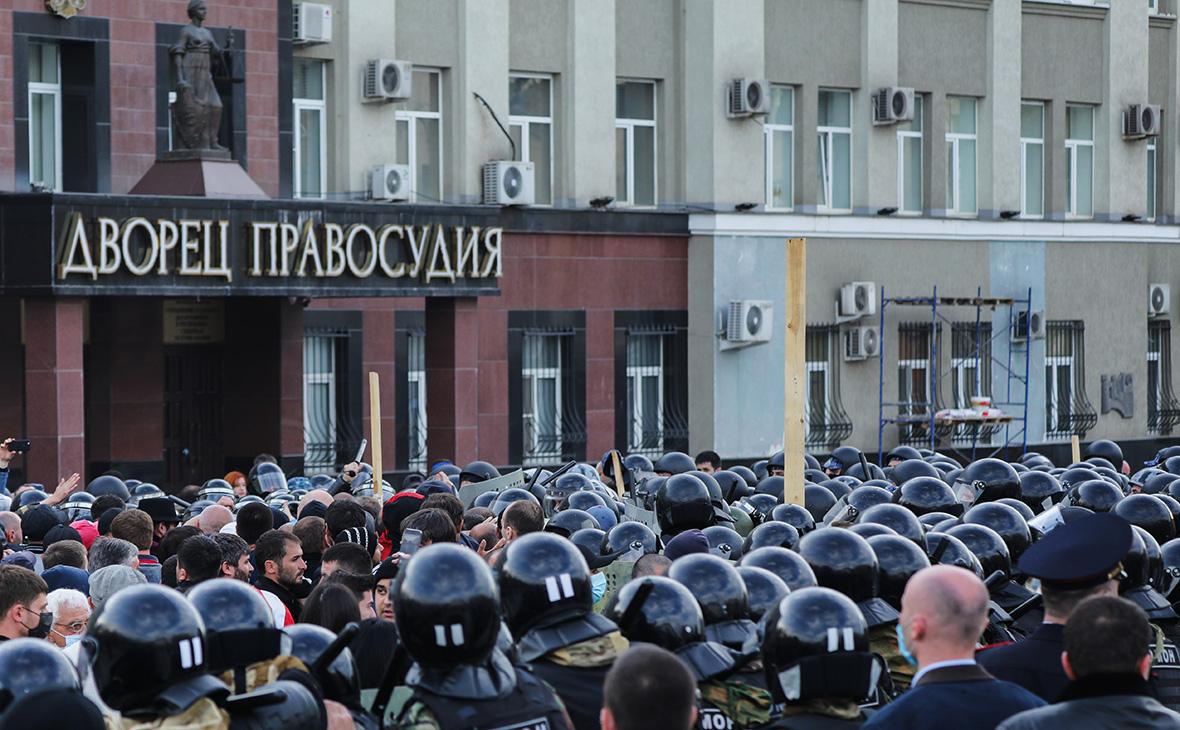 Митинг против самоизоляции во Владикавказе