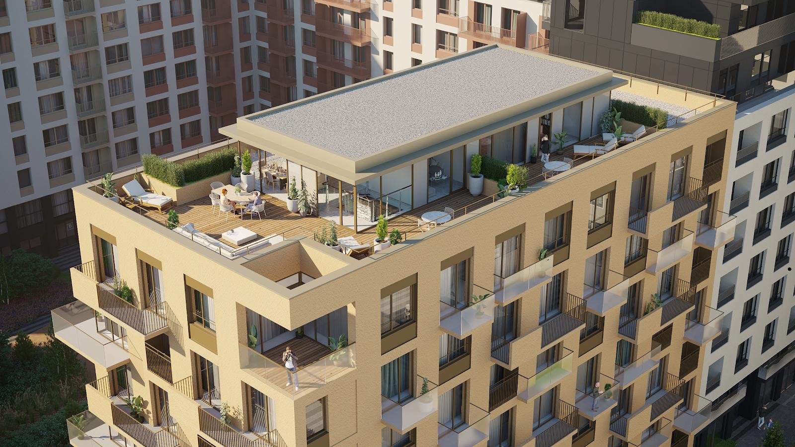 Террасы на крыше в «Европейском квартале» (Тюмень)