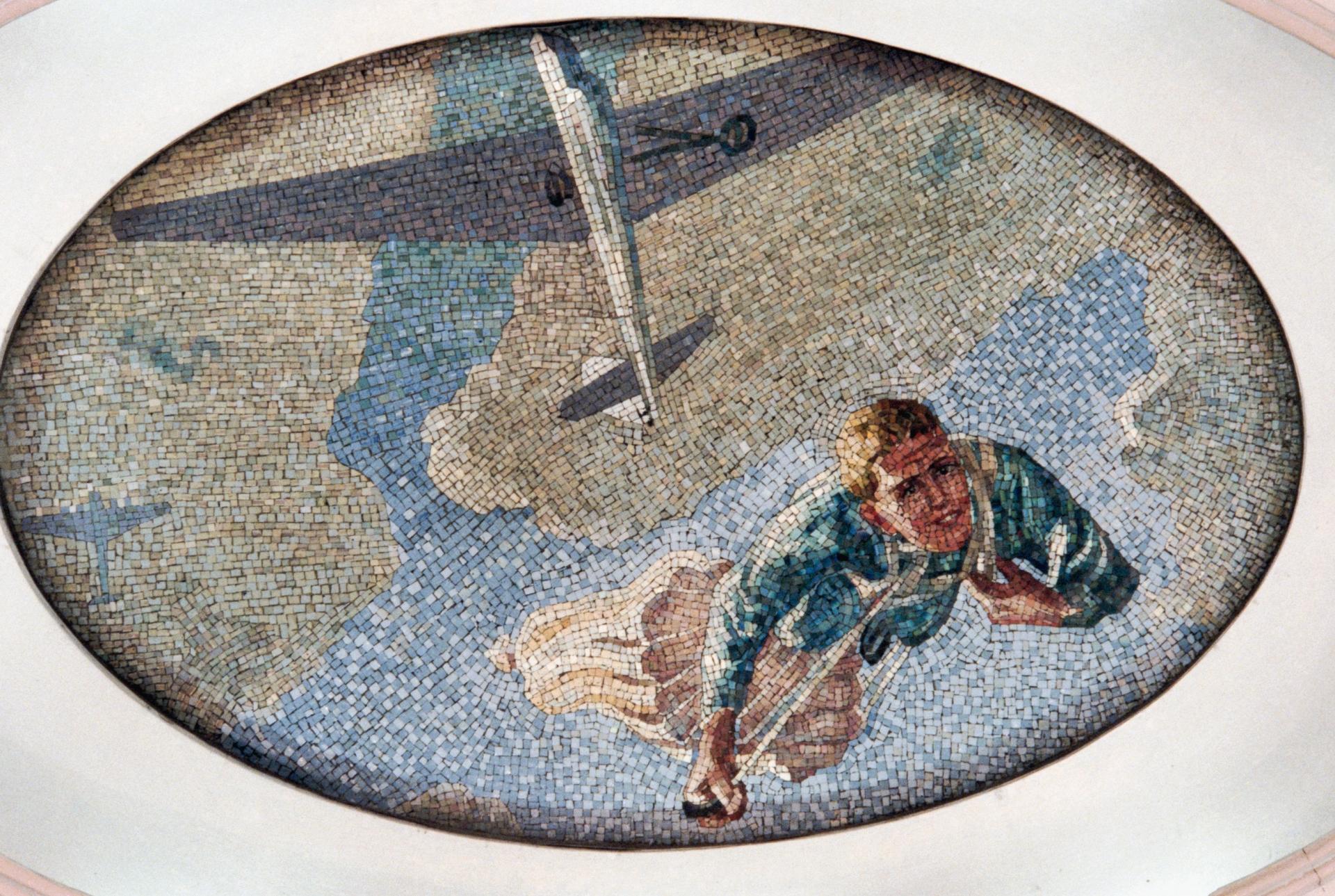 Мозаичное панно из смальты художника А. Дейнеки на станции «Маяковская»
