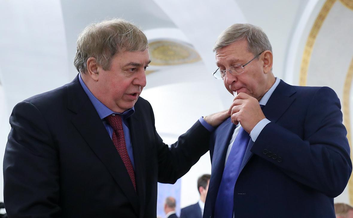 Михаил Гуцериев и Владимир Евтушенков (слева направо)