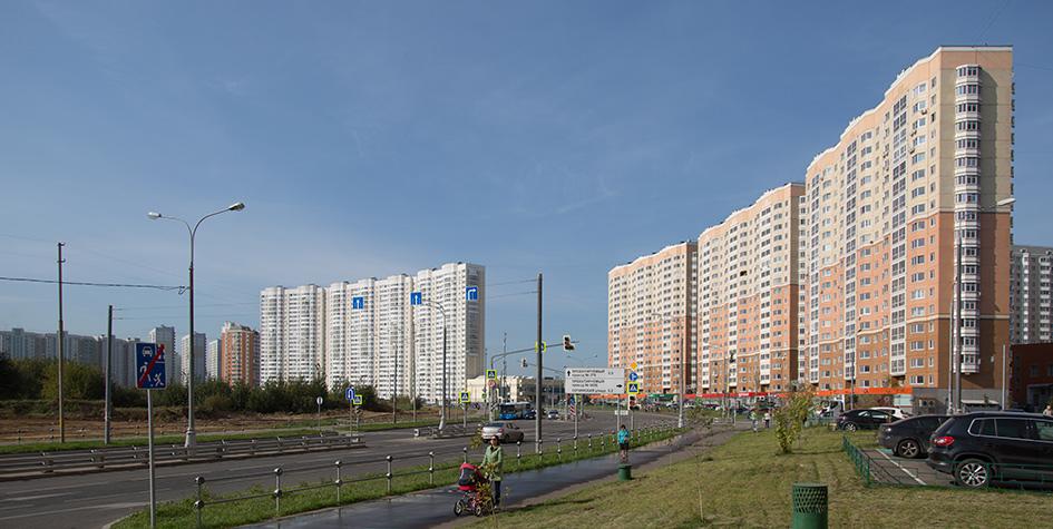 Жилые дома в районе Некрасовка