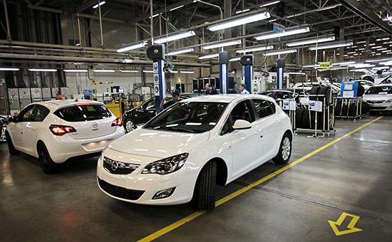 Производство малогабаритных автомобилей Opel Astra на заводе General Motors