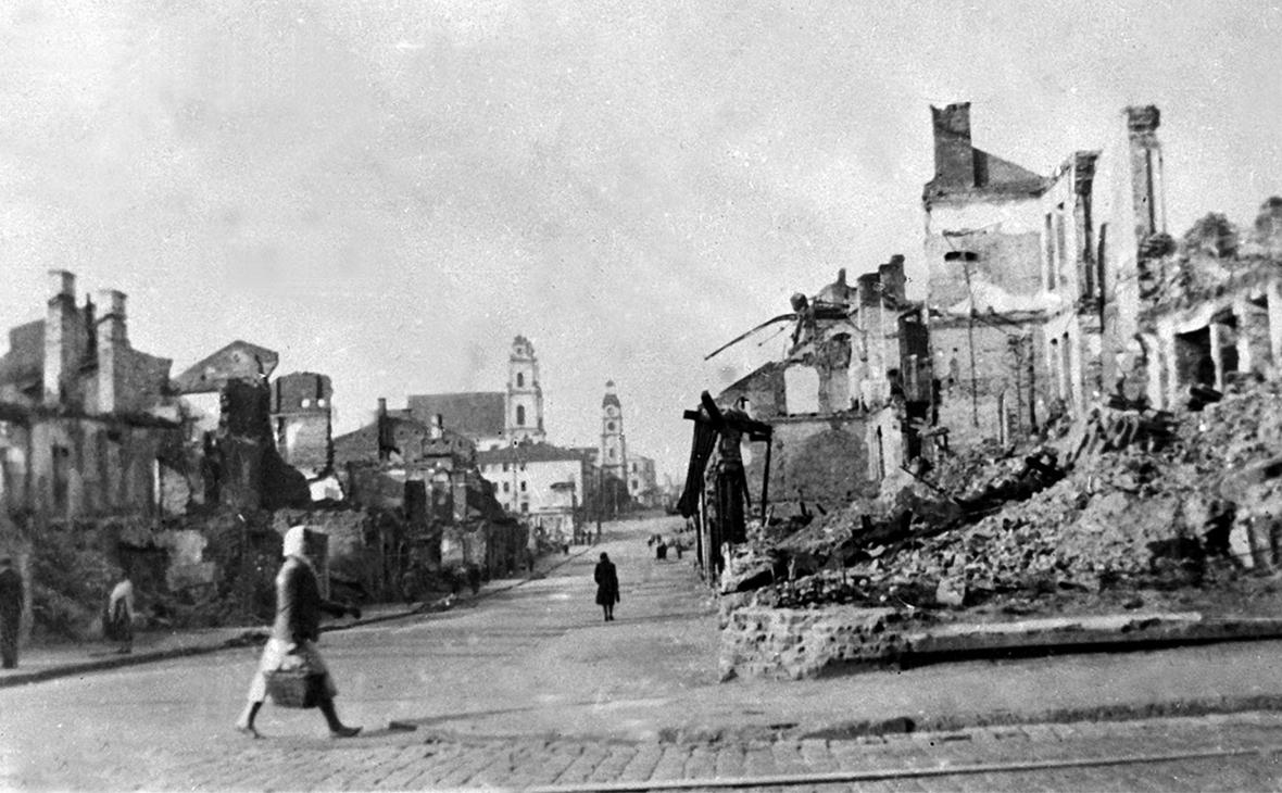Минск, центральная часть города в 1944 году после освобождения
