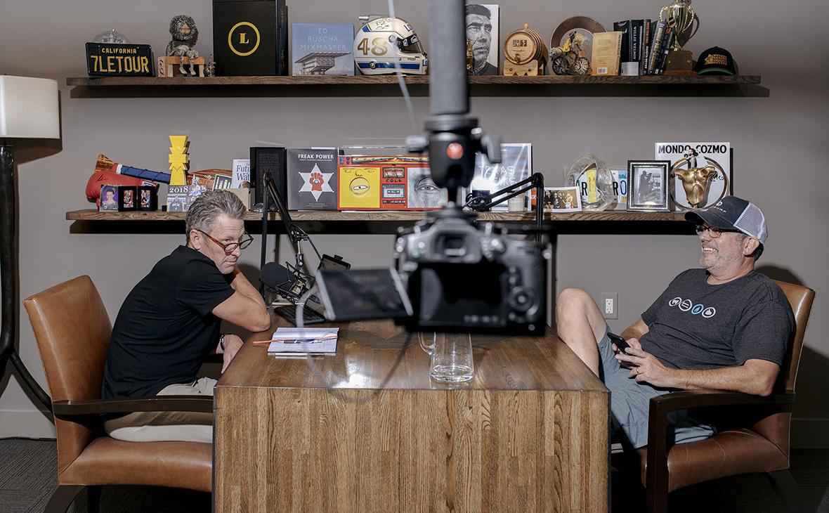 Лэнс Армстронг и Джей Би Хэгер (слева направо)