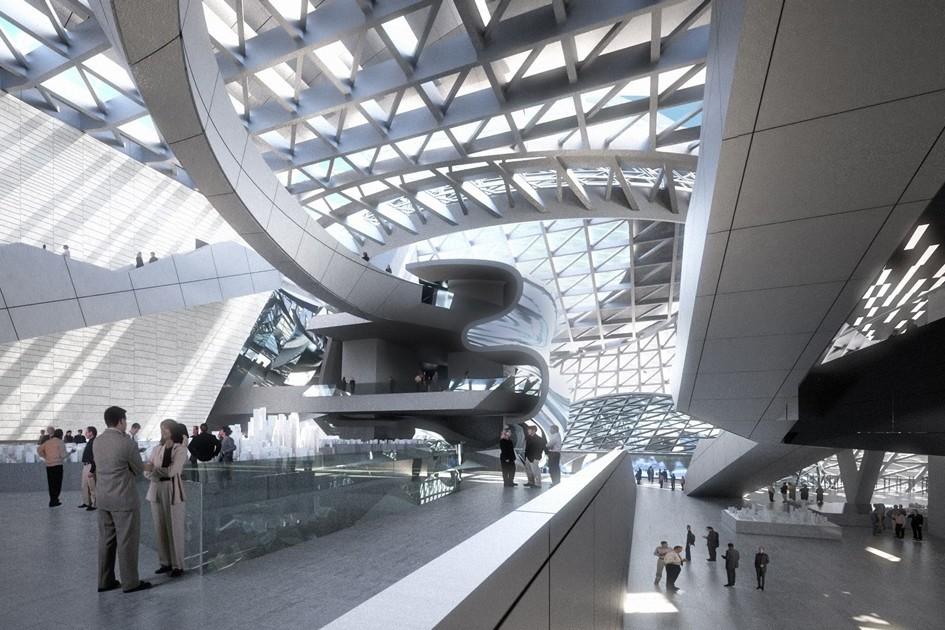 Строго говоря, MOCAPE—это два здания собщим лобби. Хитроумная внутренняя планировка делит помещение назону выставочного павильона икорпус смузеем современного искусства
