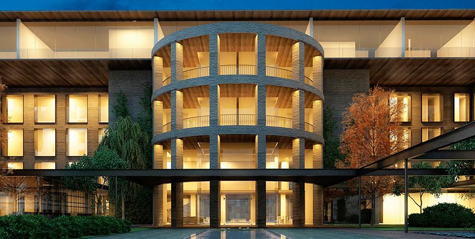 Проект фасада отеля наЗубовской улице