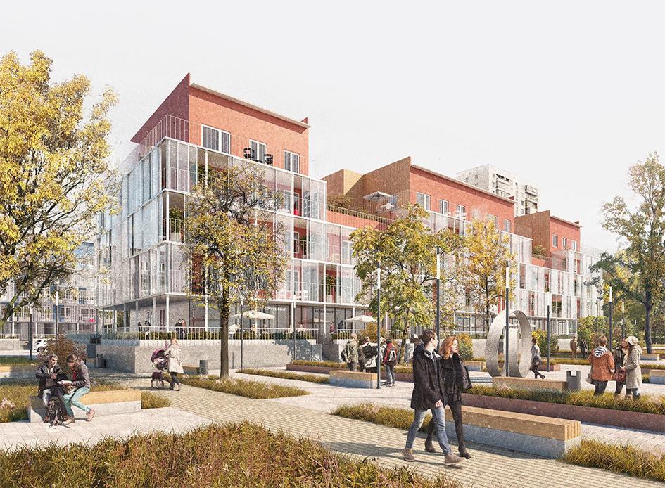 Один из вариантов модернизации типовой пятиэтажки