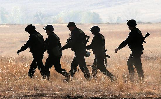 Военнослужащие во время стратегических командно-штабных учений российской армии. Сентябрь 2015 года