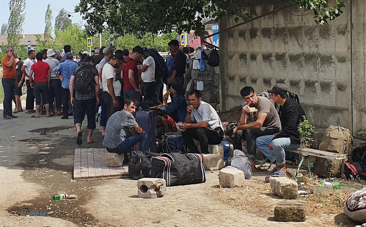 Пункт временного размещения граждан Азербайджана в Дагестане