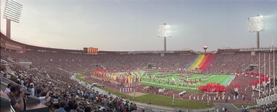 На фото: торжественное закрытие XXII летних Олимпийских игрна Центральном стадионе имени В. И. Ленина.3 августа 1980 года