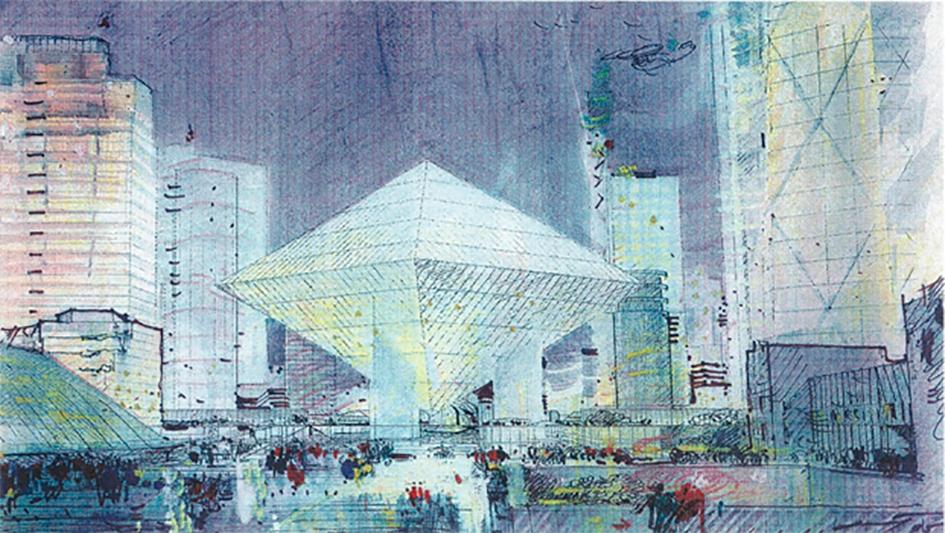 Центральное ядро ММДЦ «Москва-Сити» по проекту Бориса Тхора