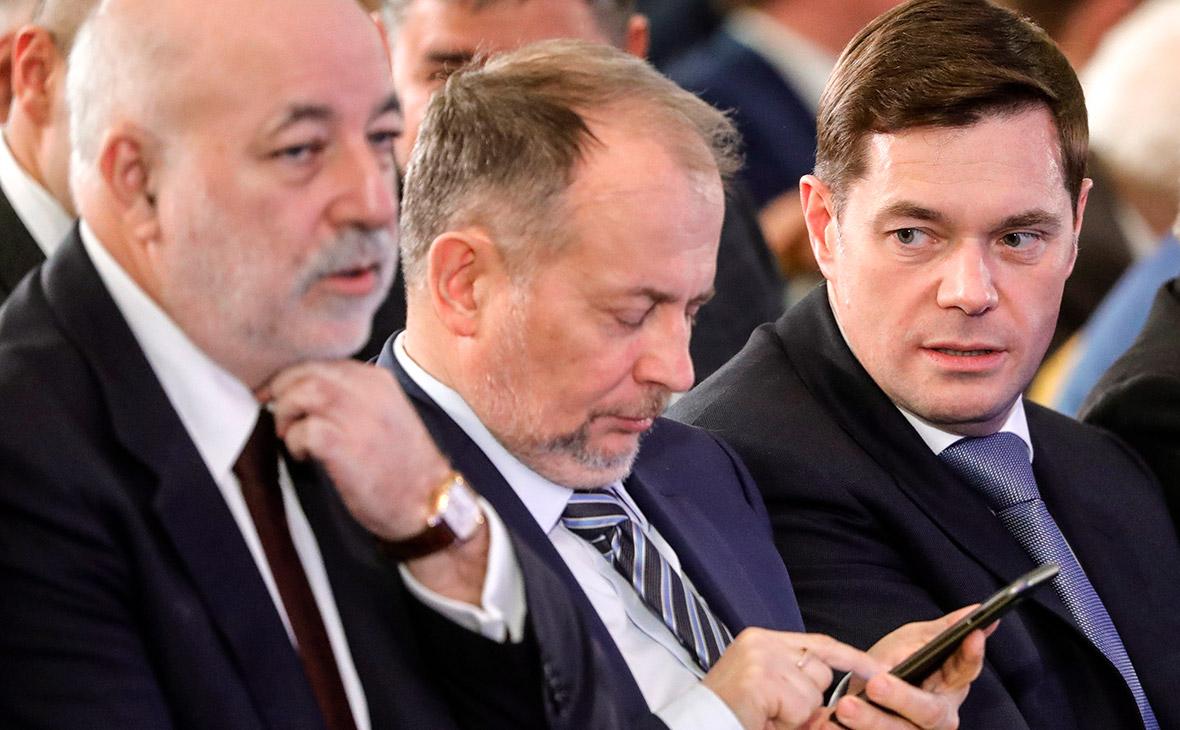 Виктор Вексельберг, Владимир Лисин и Алексей Мордашов (слева направо)