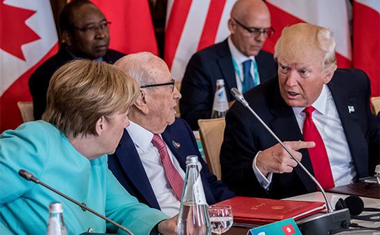 Картинки по запросу Дональд Трамп на саммите «Большой семерки» фото