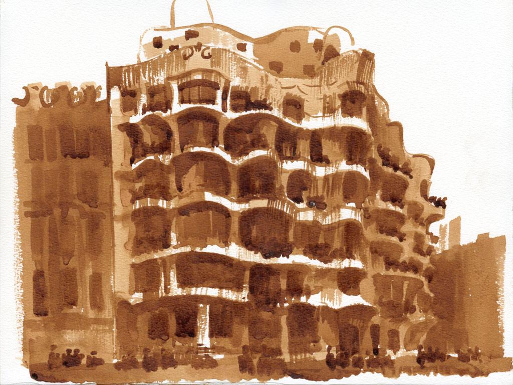 Каса-Мила по проекту Антони Гауди в Барселоне