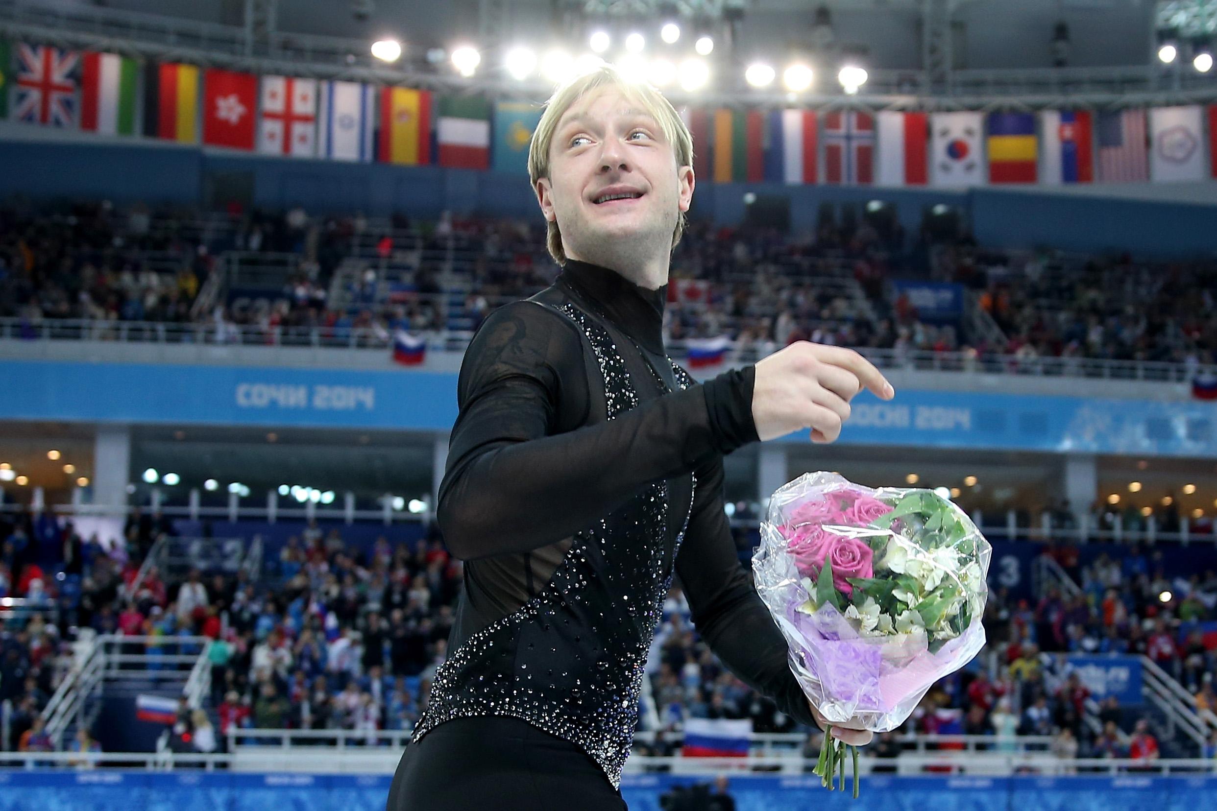 Евгений Плющенко на Олимпиаде в Сочи