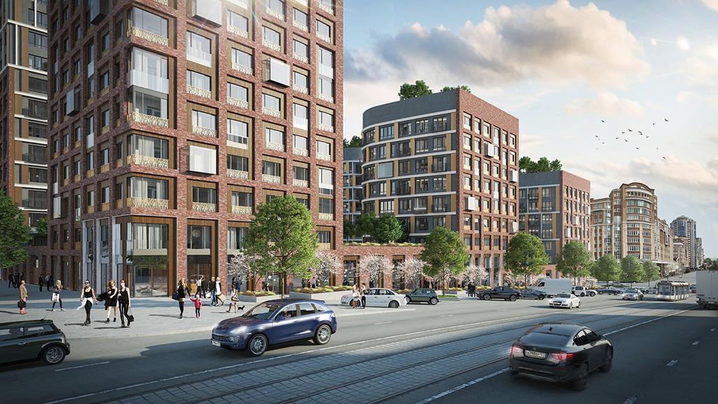 На территории комплекса будут продаваться 586 квартир площадью от 46 кв. м до 144 кв. м в пентхаусах