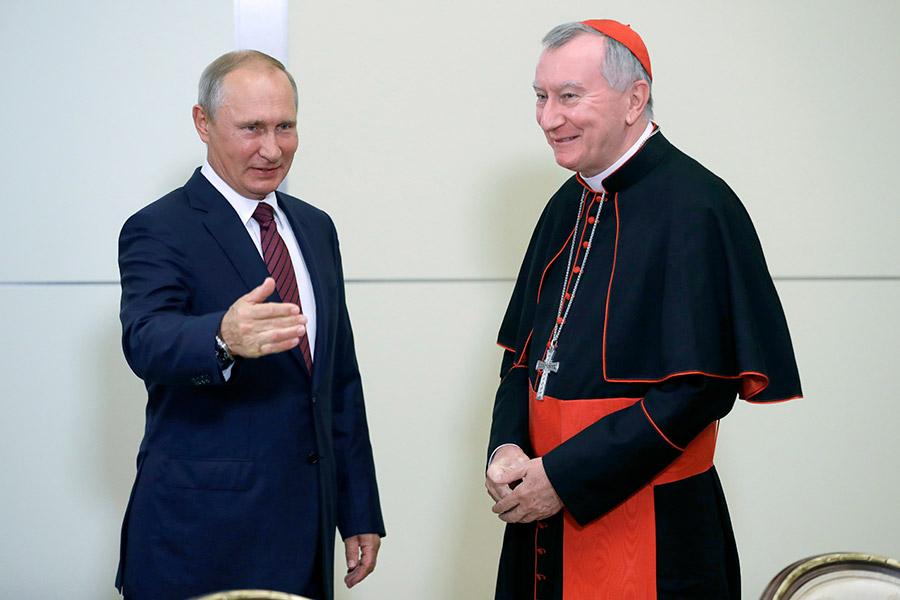 Владимир Путин и Пьетро Паролин
