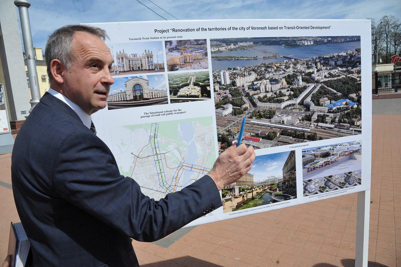 Игорь Лотков презентует концепцию воронежского метро