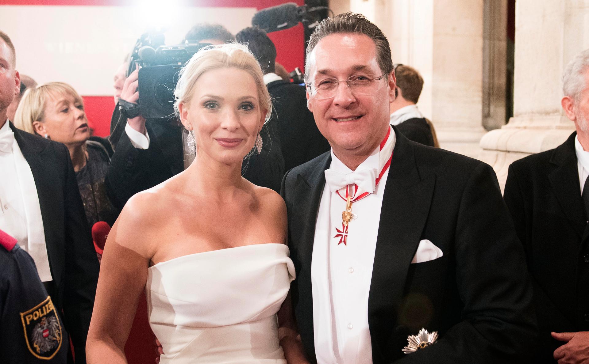 Хайнц-Кристиан Штрахе с супругой