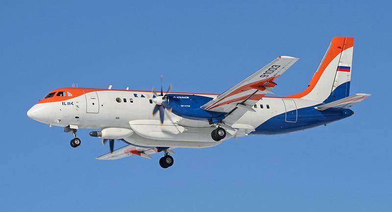Турбовинтовой самолет Ил-114