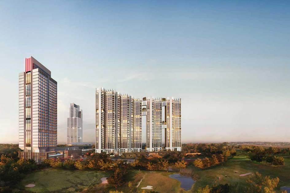 Гургаон, Индия  Проект Ireo City—это высотный деловой район квостоку отГургаона, индийского мегаполиса вштате Харьяна. На территории в12 га Foster + Partners решили объединить элитное жилье, отели, магазины, офисы, рестораны ивсе возможные коммунальные службы. На крышах небоскребов обустроят сады