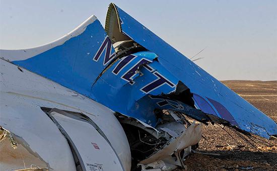Обломки рухнувшего на Синае А321