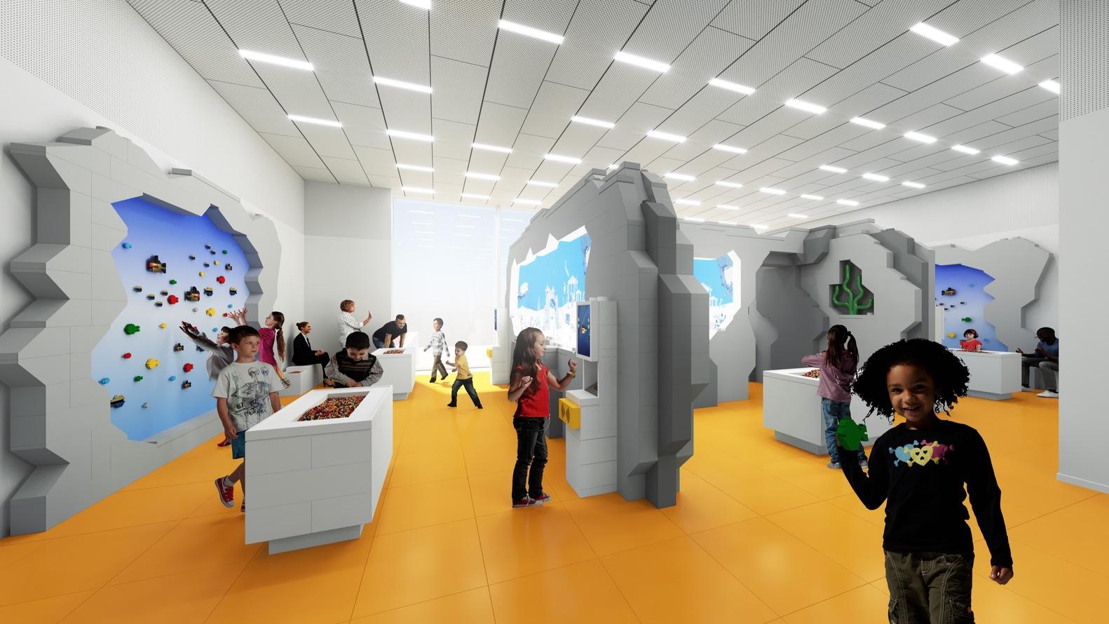 Фасад LEGO House будет представлять собой имитацию кладки изтрадиционных кирпичиков LEGO