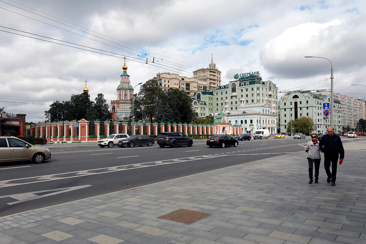 Улица Большая Якиманка после реконструкции в рамках программы благоустройства «Моя улица»