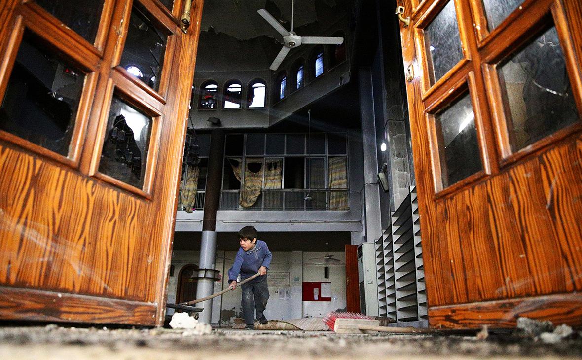 Разрушенный дом в Дамаске, Сирия