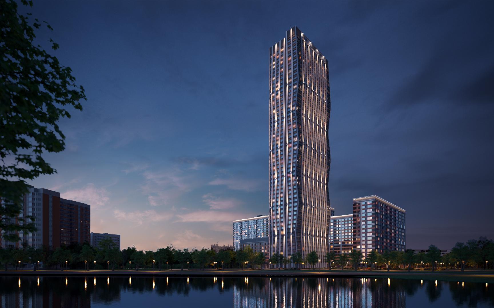 AFI Tower.Визуализация AFI Development